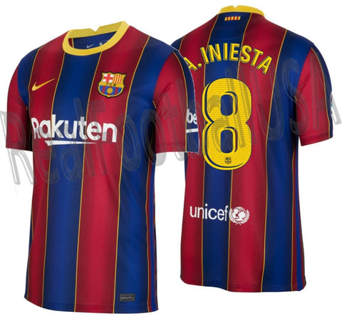 NIKE ANDRES INIESTA FC BARCELONA HOME JERSEY 2020/21 1