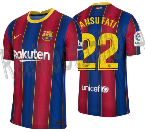NIKE ANSU FATI FC BARCELONA AUTHENTIC VAPOR MATCH HOME JERSEY 2020/21 1