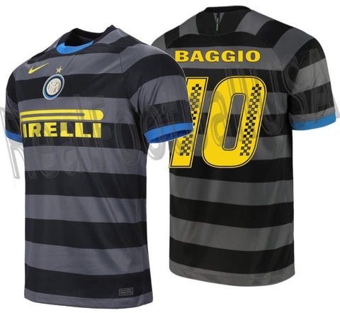 NIKE ROBERTO BAGGIO INTER MILAN PIRELLI RACING LIMITED EDITION THIRD JERSEY 2020/21 1