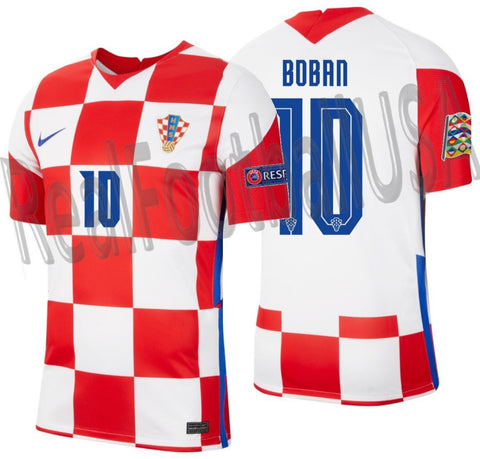 NIKE ZVONIMIR BOBAN CROATIA NATIONS LEAGUE HOME JERSEY 2020 2021 1