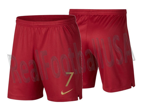 NIKE CRISTIANO RONALDO PORTUGAL HOME SHORTS FIFA WORLD CUP 2018 1