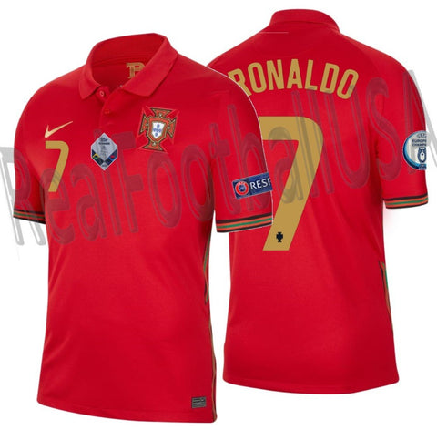 NIKE CRISTIANO RONALDO PORTUGAL NATIONS LEAGUE HOME JERSEY 2020 2021 1