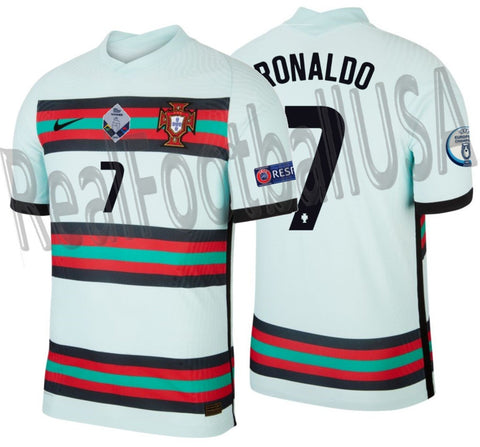 NIKE CRISTIANO RONALDO PORTUGAL VAPOR MATCH NATIONS LEAGUE AWAY JERSEY 2020 2021 1