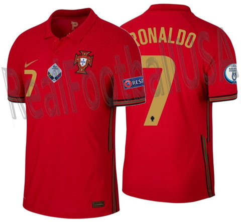 NIKE CRISTIANO RONALDO PORTUGAL VAPOR MATCH NATIONS LEAGUE HOME JERSEY 2020 2021 1