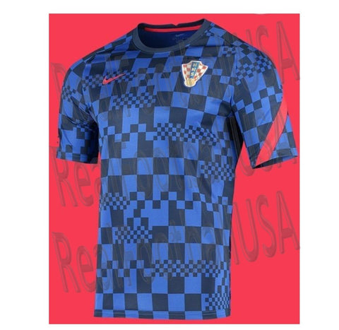 NIKE CROATIA BREATHE PRE MATCH JERSEY 2020 2021