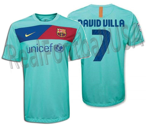NIKE DAVID VILLA FC BARCELONA AWAY JERSEY 2010/11 1
