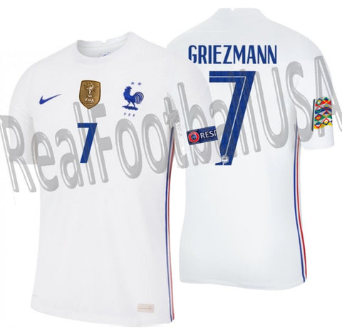 NIKE ANTOINE GRIEZMANN FRANCE NATIONS LEAGUE AWAY JERSEY 2020 2021 1