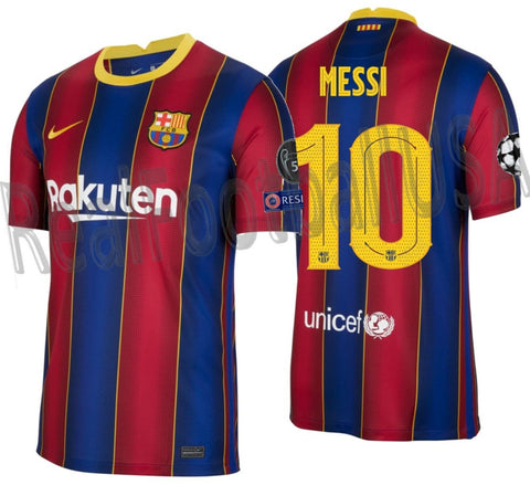 NIKE LIONEL MESSI FC BARCELONA UEFA CHAMPIONS LEAGUE HOME JERSEY 2020/21 1