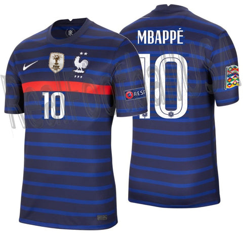 NIKE KYLIAN MBAPPE FRANCE NATIONS LEAGUE HOME JERSEY 2020 2021 1