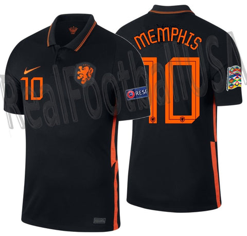 NIKE MEMPHIS DEPAY NETHERLANDS NATIONS LEAGUE AWAY JERSEY 2020 2021 1
