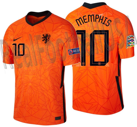 NIKE MEMPHIS DEPAY NETHERLANDS NATIONS LEAGUE HOME JERSEY 2020 2021 1