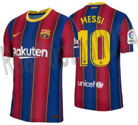 NIKE LIONEL MESSI FC BARCELONA AUTHENTIC VAPOR MATCH HOME JERSEY 2020/21 1