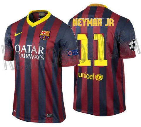 NIKE NEYMAR JR FC BARCELONA UEFA CHAMPIONS LEAGUE HOME JERSEY 2013/14 1