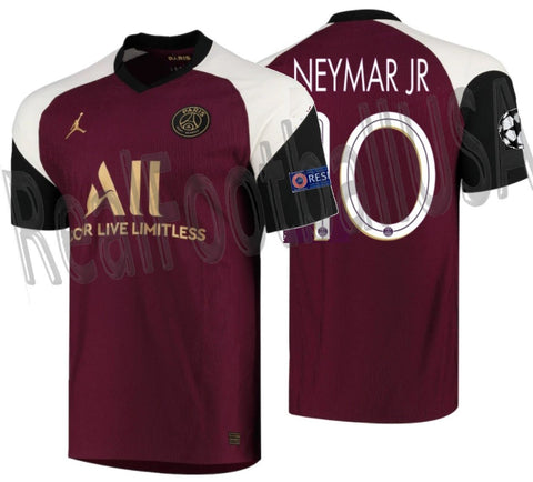 NIKE NEYMAR JR PSG PARIS SAINT-GERMAIN VAPOR MATCH UEFA CHAMPIONS LEAGUE THIRD JERSEY 2020/21 1
