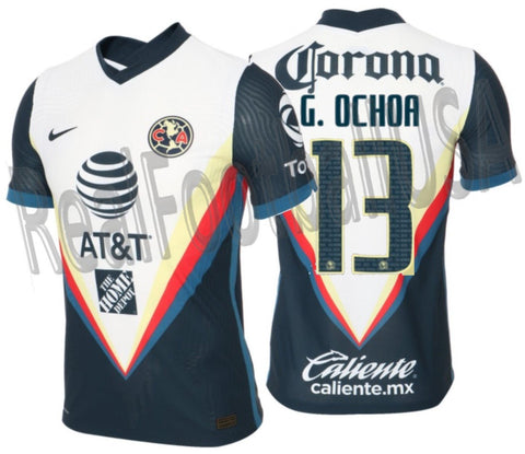 NIKE GUILLERMO OCHOA CLUB AMERICA VAPOR MATCH AWAY JERSEY 2020/21 1