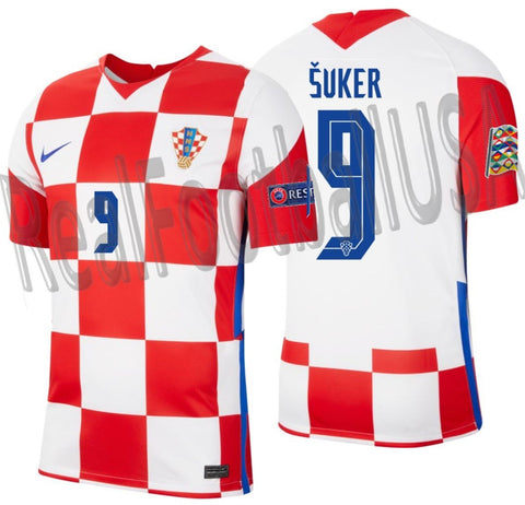 NIKE DAVOR SUKER CROATIA NATIONS LEAGUE HOME JERSEY 2020 2021 1