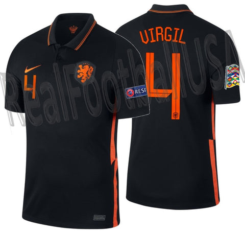 NIKE VIRGIL VAN DIJK NETHERLANDS NATIONS LEAGUE AWAY JERSEY 2020 2021 1