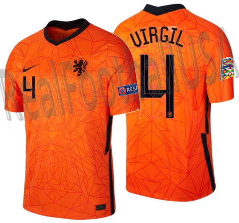 NIKE VIRGIL VAN DIJK NETHERLANDS NATIONS LEAGUE HOME JERSEY 2020 2021 1