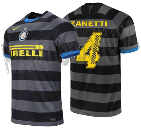 NIKE JAVIER ZANETTI INTER MILAN PIRELLI RACING LIMITED EDITION THIRD JERSEY 2020/21 1