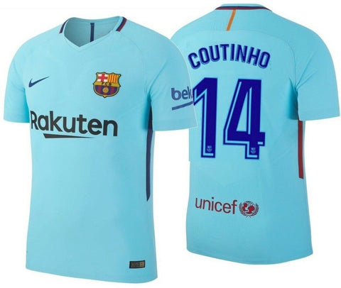 NIKE PHILIPPE COUTINHO FC BARCELONA AUTHENTIC VAPOR MATCH AWAY JERSEY 2017/18 1