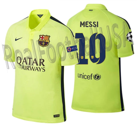 NIKE LIONEL MESSI FC BARCELONA UEFA CHAMPIONS LEAGUE AUTHENTIC MATCH THIRD  JERSEY 2014/15 1