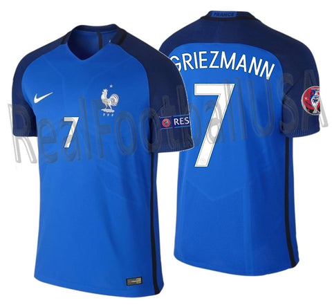 NIKE ANTOINE GRIEZMANN FRANCE VAPOR MATCH AUTHENTIC HOME JERSEY EURO 2016 PATCH 1