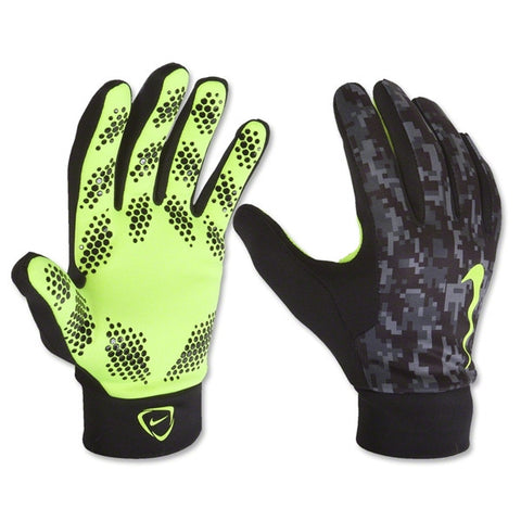 NIKE HYPERWARM FIELD PLAYER GLOVES TRAINING SOCCER 2014/15 Black/Volt/Volt