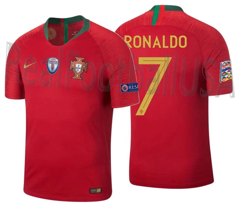NIKE CRISTIANO RONALDO PORTUGAL VAPOR MATCH AUTHENTIC HOME JERSEY NATIONS LEAGUE 2019 1