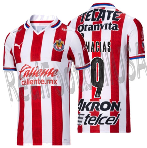 PUMA JOSE JUAN MACIAS CHIVAS DE GUADALAJARA AUTHENTIC MATCH HOME JERSEY 2020/21 1