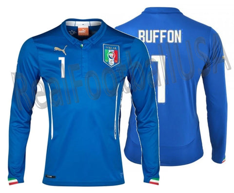 PUMA GIANLUIGI BUFFON ITALY LONG SLEEVE HOME JERSEY FIFA WORLD CUP 2014 1