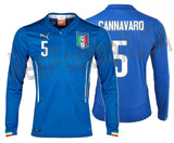 PUMA FABIO CANNAVARO ITALY LONG SLEEVE HOME JERSEY FIFA WORLD CUP 2014 1