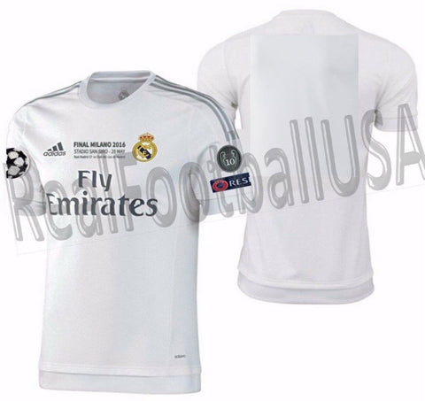 low cost cd969 13c7b ADIDAS REAL MADRID AUTHENTIC HOME UEFA CHAMPIONS LEAGUE MATCH JERSEY  2015/16.