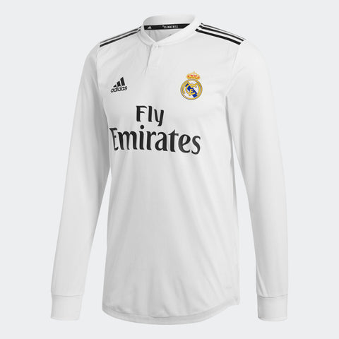 ADIDAS REAL MADRID LONG SLEEVE AUTHENTIC MATCH HOME JERSEY 2018/19 DQ0869