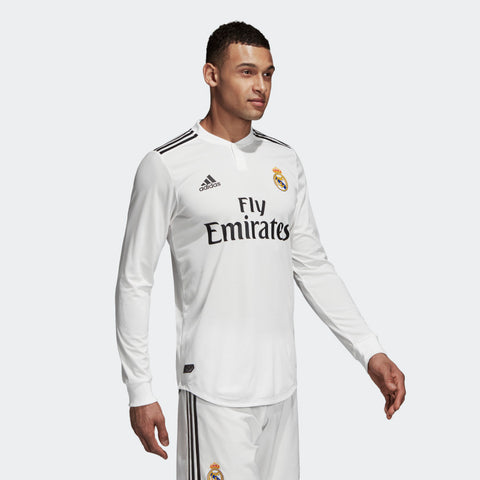 the latest 0e184 873ad ADIDAS SERGIO RAMOS REAL MADRID LONG SLEEVE AUTHENTIC MATCH HOME JERSEY  2018/19.