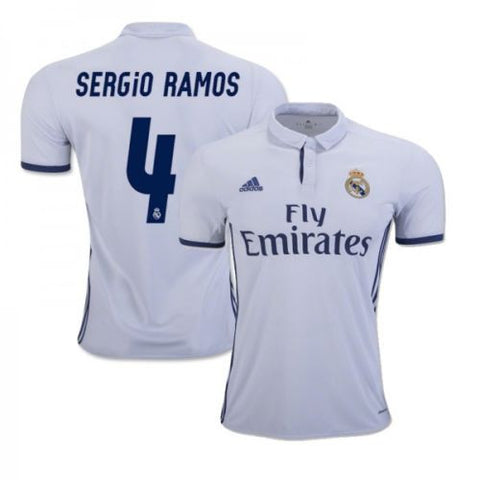 ADIDAS SERGIO RAMOS REAL MADRID HOME JERSEY 2016/17.