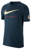 NIKE CLUB AMERICA LARGE SWOOSH T-SHIRT Navy 2