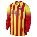NIKE FC BARCELONA XAVI HERNANDEZ LONG SLEEVE AWAY JERSEY 2013/14