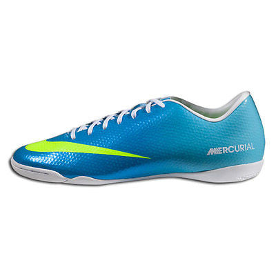 b0730b5d322 NIKE MERCURIAL VICTORY IV IC INDOOR SOCCER FUTSAL CR7 SHOES Neptune Blue.