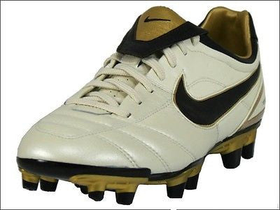 NIKE AIR LEGEND  II FG FIRM GROUND SOCCER SHOES RONALDINHO PEARL/CINDER