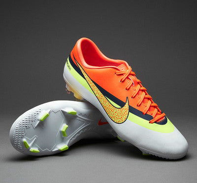NIKE CR7 MERCURIAL VICTORY IV CR FG FIRM GROUND SOCCER FOOTBALL SHOES WHITE