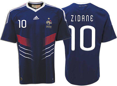 ADIDAS ZINEDINE ZIDANE FRANCE HOME JERSEY FIFA WORLD CUP 2010.