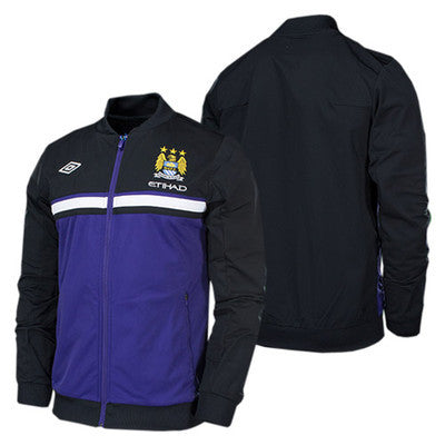 UMBRO MANCHESTER CITY KNIT JACKET 2012/13 BARCLAYS PREMIER LEAGUE.