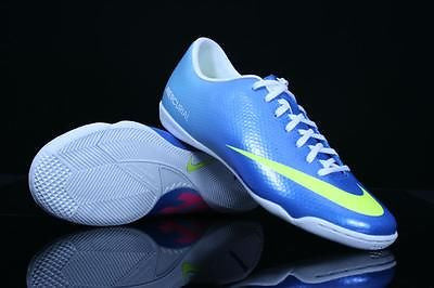 NIKE MERCURIAL VICTORY IV IC INDOOR SOCCER FUTSAL CR7 SHOES Neptune Blue.