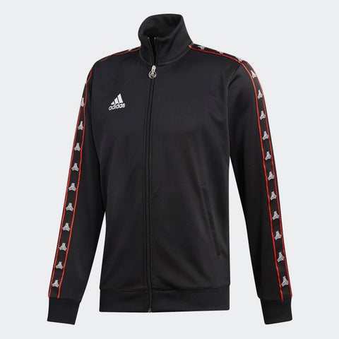 ADIDAS TAN TAPE CLUBHOUSE JACKET Black/Red