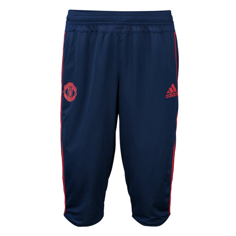 ADIDAS MANCHESTER UNITED 3/4 TRAINING PANTS Blue/Red.