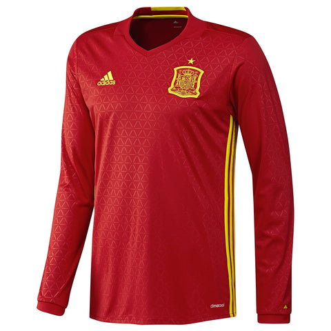 ADIDAS SPAIN LONG SLEEVE HOME JERSEY EURO 2016