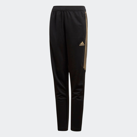 ADIDAS TIRO 17 YOUTH TRAINING PANTS Black/Metallic Gold DM2797