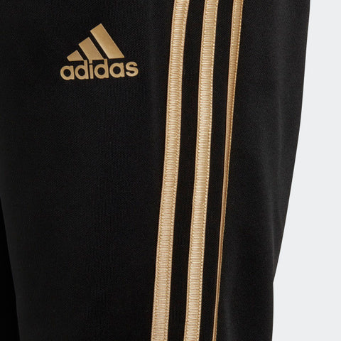 adidas pants black gold