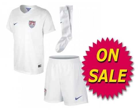 NIKE USMNT USA LITTLE BOYS HOME KIT FIFA WORLD CUP 2014 ON SALE