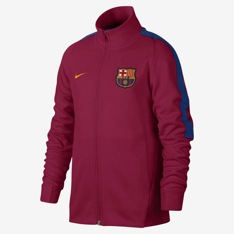 NIKE FC BARCELONA AUTHENTIC FRANCHISE YOUTH JACKET 2017/18 Noble Red